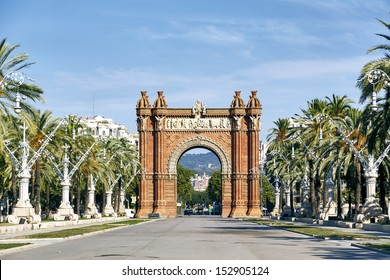 Triumph Arch, Arc de Triomf in Barcelona, Spain