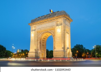 The Triumphal Arch (Arcul de Triumf) in Bucharest, Romania