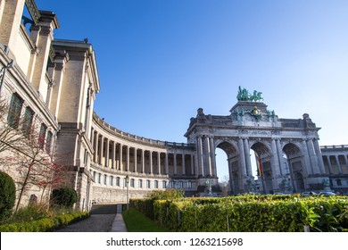 the triumphal arch and jubelpark brussels belgium
