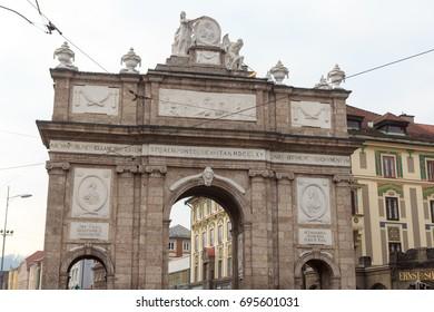 Triumphal Arch (Triumphpforte) in Innsbruck, Austria