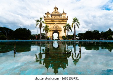 Triumphal Arch of Victory And pride of Laos.
