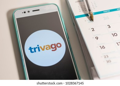 Trivago App In A Mobile Phone Hotel For Booking And Traveli