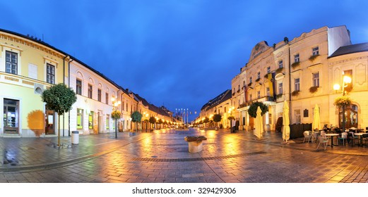 Trnava - panorama of Hlava street - Shutterstock ID 329429306