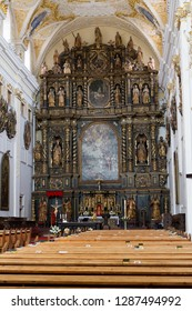 Trnava, Slovakia. 2018/4/12. The reredos in the Saint John the Baptist Cathedral in Trnava.