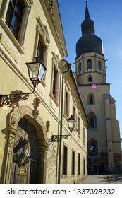 Trnava, Slovakia, 23 August 2016.Streets of small european  town, architecture, views, people