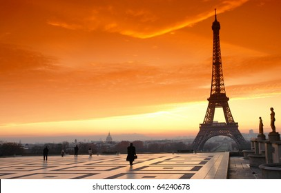 trocadero square and eiffel tower in Paris