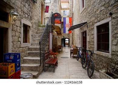 TROGIR, CROATIA - APR 15, 2018 -