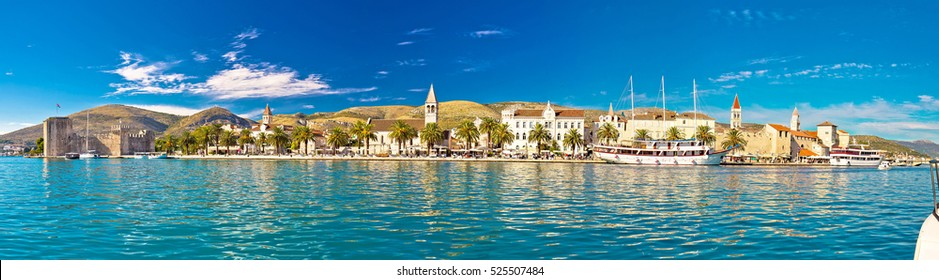 Trogir UNESCO world heritage site panoramic view in Dalmatia, Croatia