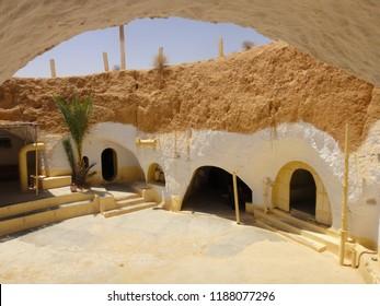 Troglodyte Homes / Underground Berber Caves In Sidi Driss, Matmata, Tunisia