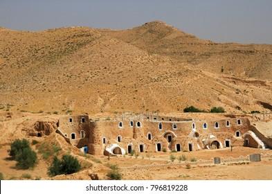Troglodyte house in Matmata, Tunisia