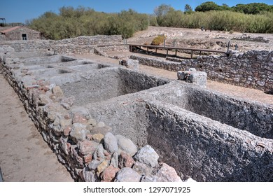 Troia, archaeological site from Roman times in Portugal