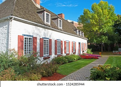 Trois Rivieres, Quebec/Canada - October 2 2019: built around 1668, the 'Manoir Boucher-De Niverville' is a historical manor house in the style of French colonial architecture.