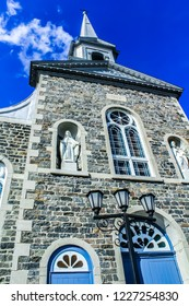 Trois-Rivieres, Quebec / Canada - August 2015: De La-Visitation church was build in  1882-1883 in a neoclassical style