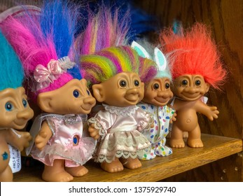 Troll Dolls for Sale on Shelf