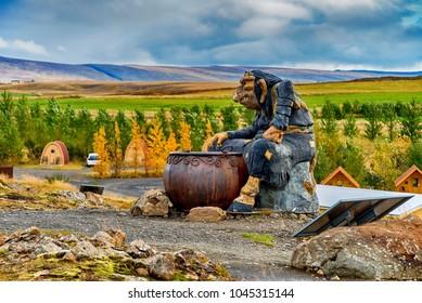 Troll statues in Iceland