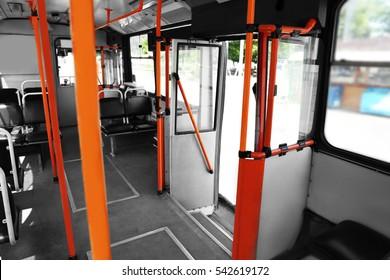 Trolley bus, inside view