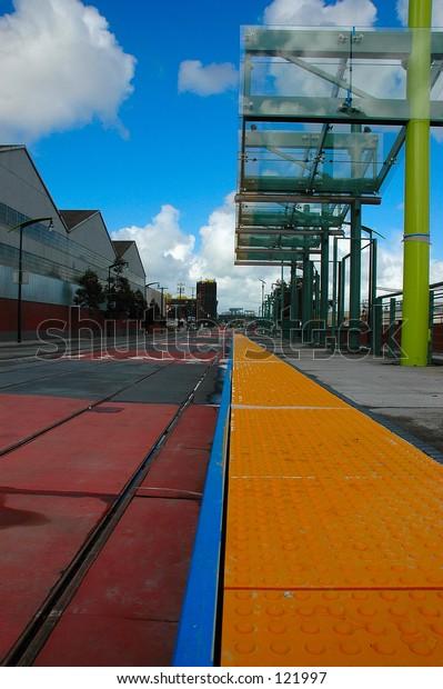 Trolley car tracks
