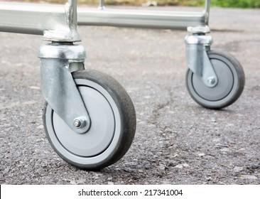 trolley caster photo closeup