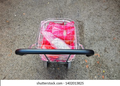 A trolley full of food from Ramadan Bazaar. Statistic shows that food wastage during Ramadan is higher during normal days.