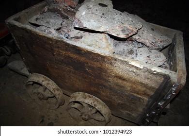 Trolley for salt mining