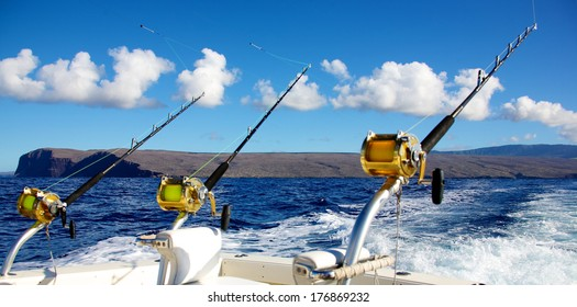 Trolling rods for deep sea fishing