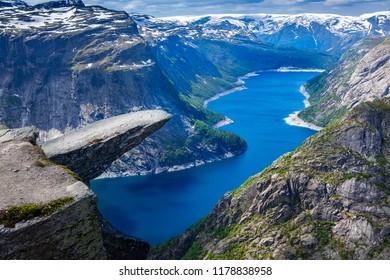 Trolltunga Norway fjord