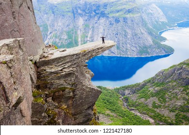 Trolltunga or Troll Tongue is a rock formation  at the Hardangerfjord near Odda town in Hordaland, Norway