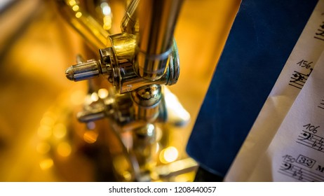 Trombone in a abstract macro view