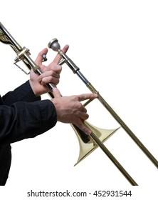 Trombone musician classic jazz music