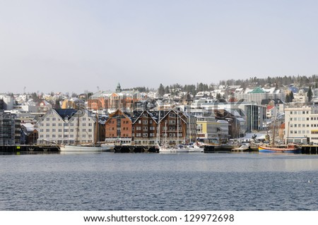 Tromso Harbor in the winter