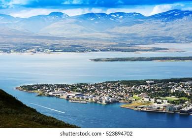 Tromso landscape view background