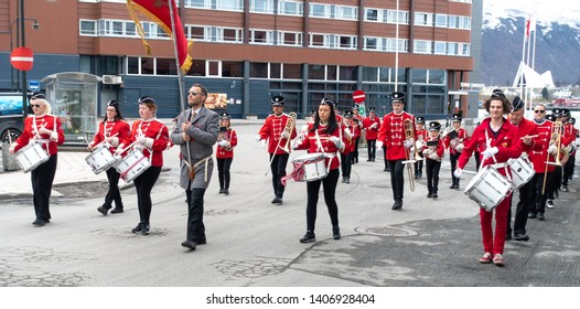 Tromso - MAY 17: Norwegian Constitution Day is the National Day of Norway and is an official national holiday observed on May 17 each year. Pictured on May 17, 2019