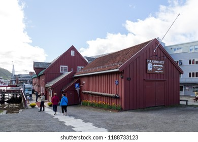 Tromso, Norway - June 1, 2018: Exterior view of the Polar Museum
