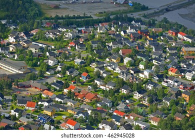 TROMSO, NORWAY -  JUNE 15,2016:Tromso is city and municipality in Troms county, Norway. Compact city centre has biggest concentration of historic wooden houses, they co-exist with modern architecture