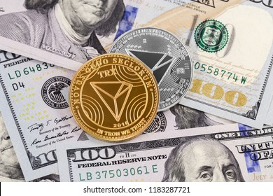 tron coin cryptocurrency and dollars