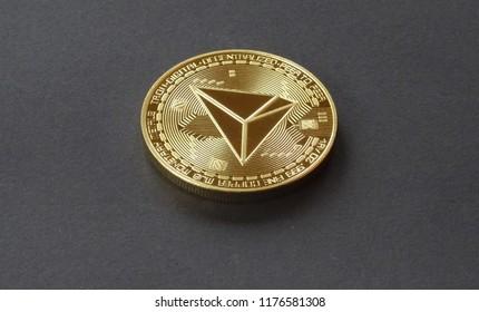 Tron, crypto curreny coins, digital money, blockchain