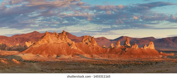 Trona Pinnacles are nearly 500 tufa spires hidden in California Desert National Conservation Area, not far from the Death Valley National Park, California, USA. A large earthquake in the area 2019
