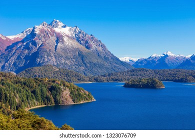 Tronador Mountain and Nahuel Huapi Lake, Bariloche. Tronador is an extinct stratovolcano in the southern Andes, located near the Argentine city of Bariloche.