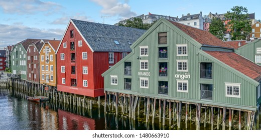 Trondheim, Norway. 5. Juli 2017 A picture of the beautiful city of Trondheim in Norway
