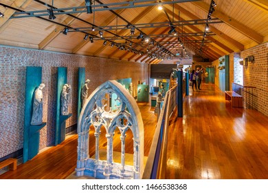 TRONDHEIM, NORWAY, APRIL 17, 2019: Interior of Archbishop palace museum in Trondheim, Norway