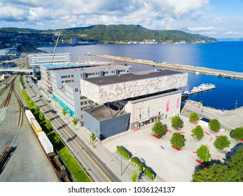 TRONDHEIM, NORWAY - AUGUST 03, 2017: Rockheim or the National Discovery Centre for Pop and Rock Music is a national museum for popular music in Trondheim, Norway