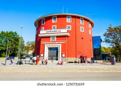 TRONDHEIM, NORWAY - AUGUST 03, 2017: The Student Society or Studentersamfundet in Trondheim is Norway's largest student society