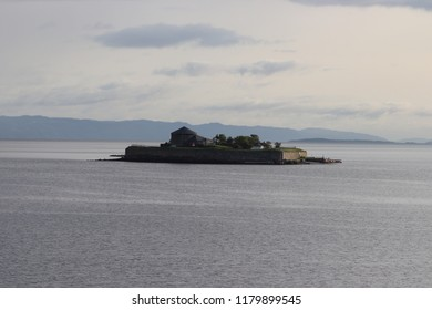 Trondheim, Norway, August 23th 2018: Munkholmen Island near Trondheim