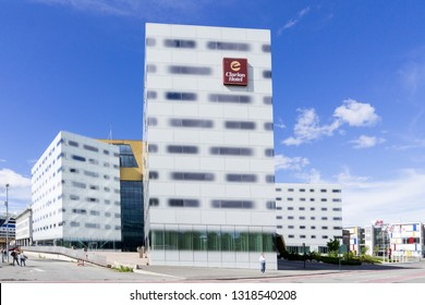 TRONDHEIM, NORWAY - June 9, 2017: Clarion Hotel Trondheim, one of Scandinavia's largest convention hotels with 400 rooms and 18 meeting rooms.
