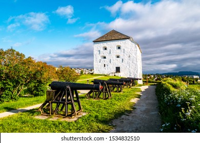 Trondheim, Norway. View of Kristiansten Fortress in Trondheim, Norway during a cloudy summer day