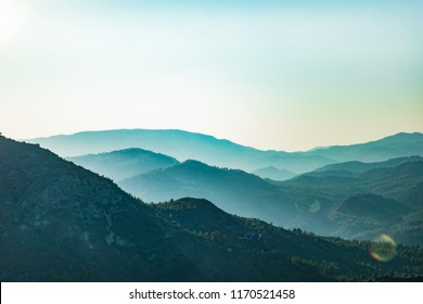 Troodos mountains in Cyprus, close to Mount Olympus, popular for area for tourists, hikes, and quads