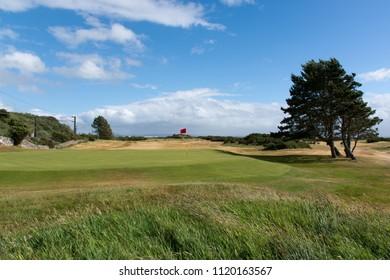 Troon, United Kingdom - June 14, 2018: 11th hole of Royal Troon Golfclub