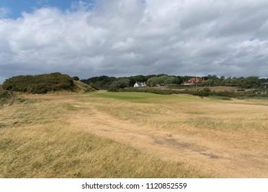 Troon, United Kingdom - June 14, 2018: 10th hole of Royal Troon Golfclub