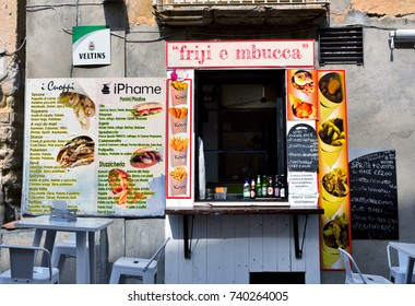 TROPEA ITALY SEPTEMBER 23 a fish frigid feature and other dishes - September 23 2017, Tropea Italy