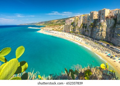 Tropea town and beach - Calabria, Italy, Europe.